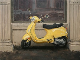 yellow vespa (sold) by vincent giarrano