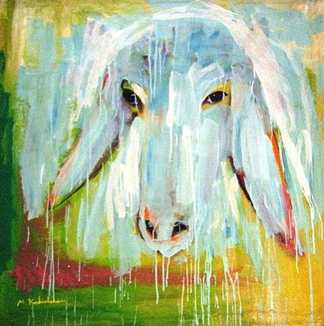 sheep by menashe kadishman