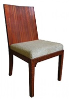 straw marquetry side chair by jean-michel frank