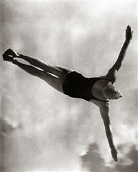 gold medal winner in the men's high diving by leni riefenstahl