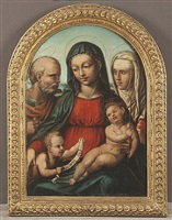 holy family with st. john the baptist and st. catherine of siena by bartolomeo di david