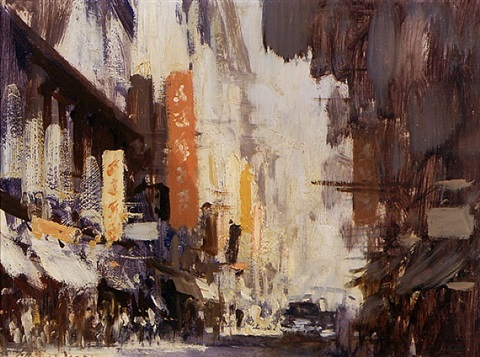queen's road west, hong kong by edward seago