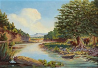 middle concho river by harvey wallace caylor