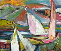 untitled (sail boats) by forrest clemenger bess