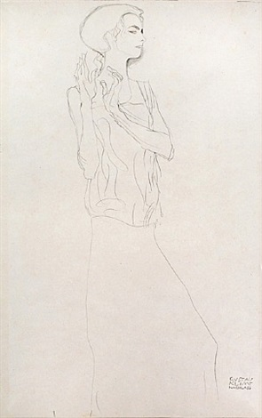 <u>study for a frieze in the palais stoclet</u> from fünfundzwanzig handzeichnungen by gustav klimt