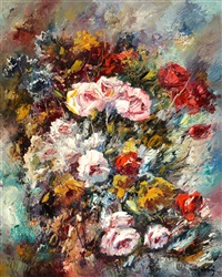 floral still life by jose vives-atsara