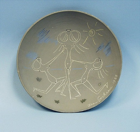 ceramic wall plate by jean cocteau