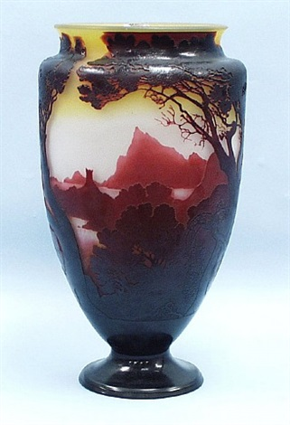 art glass vase by émile gallé