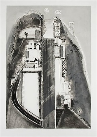 steep street (black) by wayne thiebaud