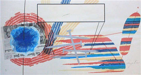 untitled near and far lithograph for 1975 leo castelli drawings exhibition by james rosenquist