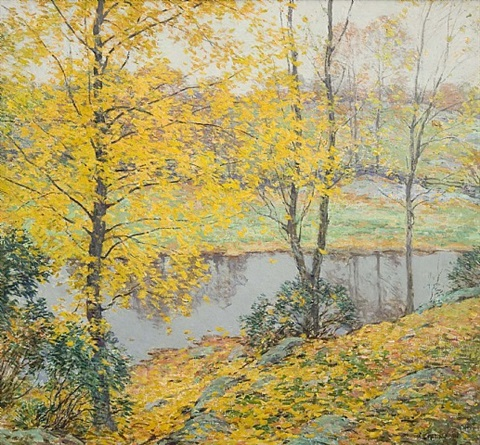 the golden screen by willard leroy metcalf
