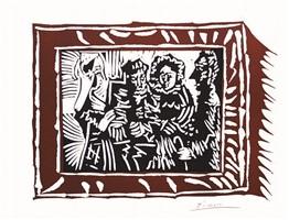 portrait de famille ingresque. iv (bloch 1146) by pablo picasso