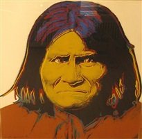 geronimo (from the cowboys and indians series) by andy warhol