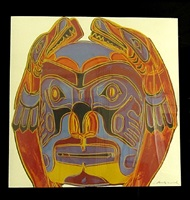 northwest coast mask (from the cowboys and indians series) by andy warhol