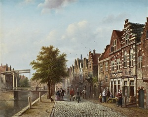 summer, amsterdam by johannes franciscus spohler