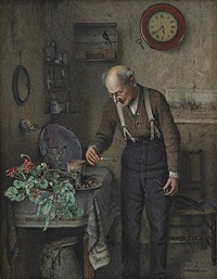 the early bird by charles spencelayh