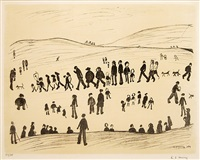 sunday afternoon by laurence stephen lowry