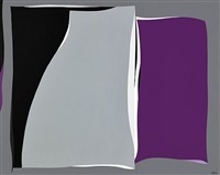 black & gray curves with purple by karl stanley benjamin