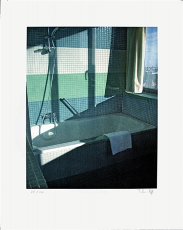 no title (bathroom, radisson sas)-signed by thomas ruff