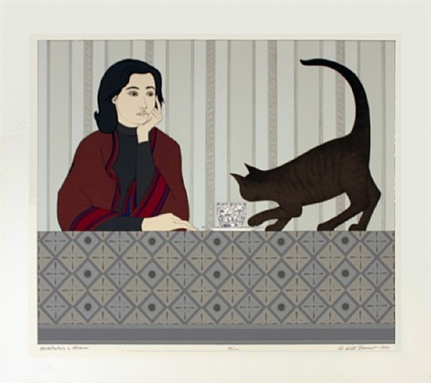 meditation and minou-signed by will barnet