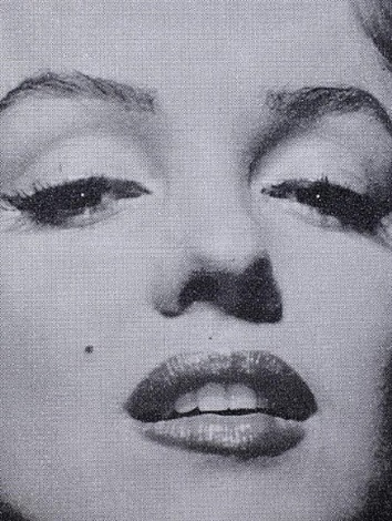 marilyn monroe close up (black + white) by russell young