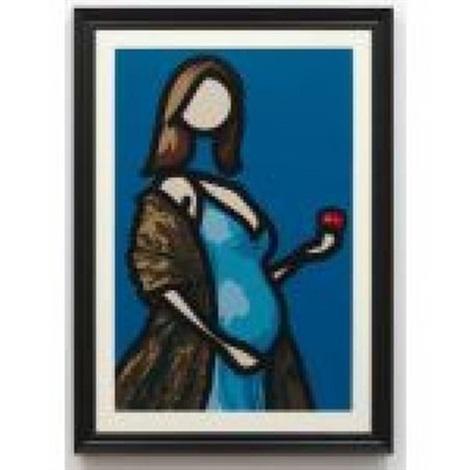 mirjam with apple by julian opie