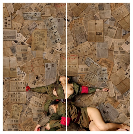 memory of time, no. 1 & no. 2 (diptych) by tian taiquan