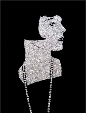 louise brooks by vik muniz