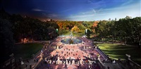bethesda fountain, central park by stephen wilkes