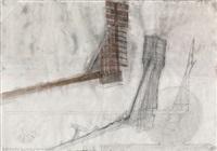 konstruktion der figur auf der grossen mähmaschine by walter pichler