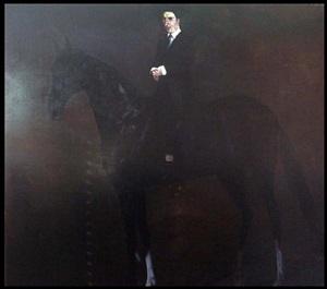 man on horse by konstantin bessmertny