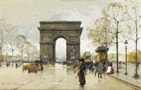 arc de triomphe by eugène galien-laloue