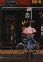 pink umbrella (sold) by vincent giarrano