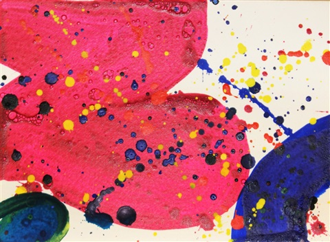 untitled no 17 from the pasadena box series by sam francis