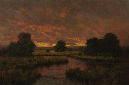 evening marsh by angelo j. franco