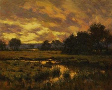marsh sunset by angelo j. franco