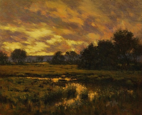 marsh sunset by angelo j. franco