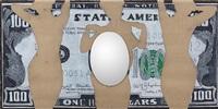 untitled (dollar bill mirror) by william nelson copley
