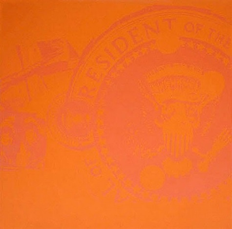 flash orange presidential seal (trial proof) by andy warhol