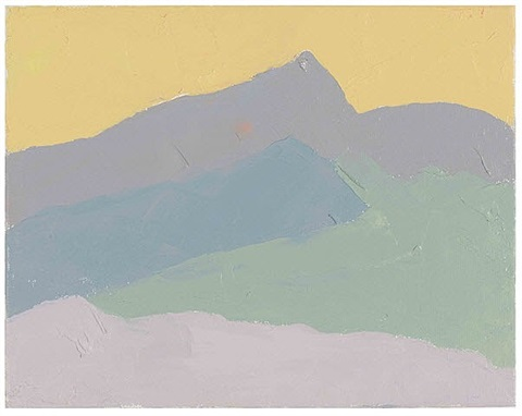 untitled, # 114 by etel adnan