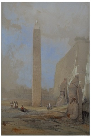 obelisk at luxor by david roberts