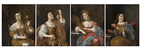 four seasons (a group of four works) by jan van bylert