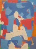 untitled abstraction (red, blue and orange) by carl robert holty
