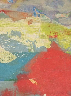 untitled abstraction (red and blue) by carl robert holty