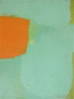 untitled abstraction (green and orange) by carl robert holty