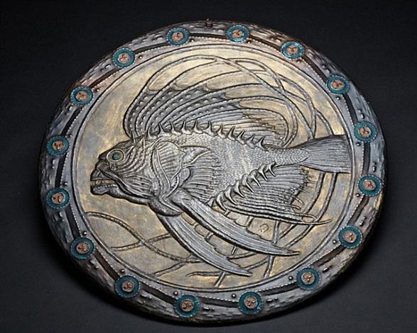 fish fossil by alfred-louis-achille daguet
