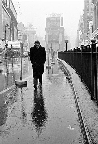 usa. new york city. 1955. james dean haunted times square. by dennis stock