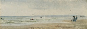 the beach at trouville by conrad wise chapman