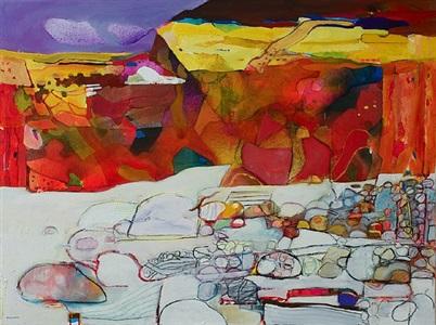 red cliff, white beach by derek balmer