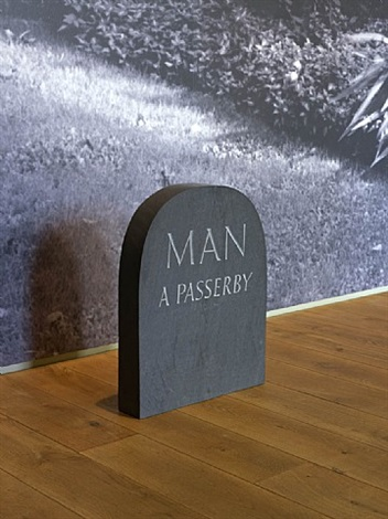 installation view of ian hamilton finlay: twilight remembers exhibition at ingleby gallery, edinburgh (2 august - 27 october 2012) by ian hamilton finlay